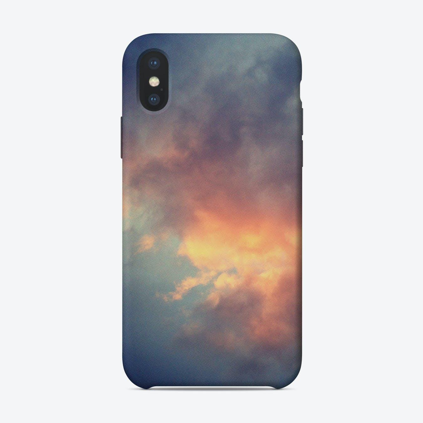 Fiery cloud iPhone Case