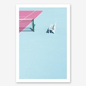 Pinkcourt Bench Art Print