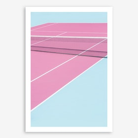 Pinkcourt Net Art Print