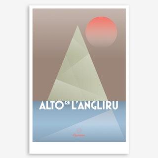 Alto De L'Angliru II Art Print