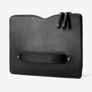 "Carry-On Folio Sleeve for 12"" Macbook in Black"