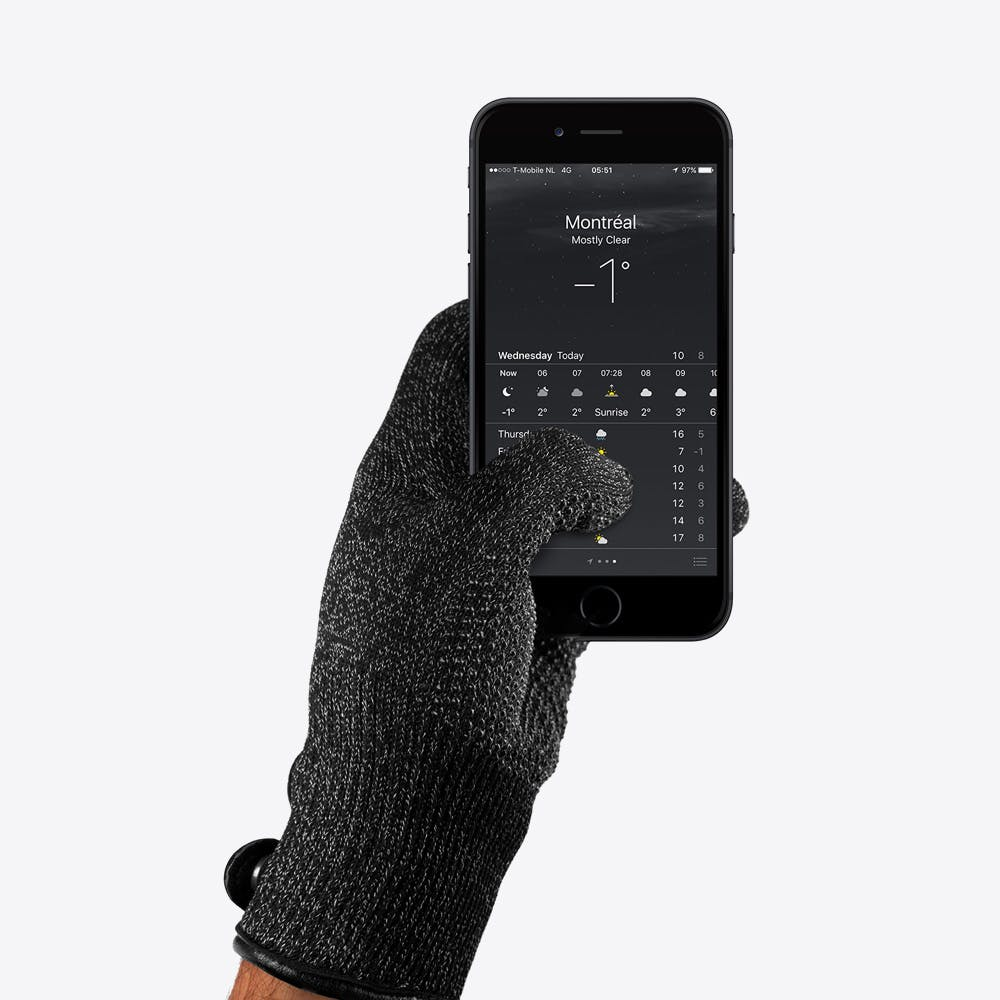 Single Layered Leather Touchscreen Gloves