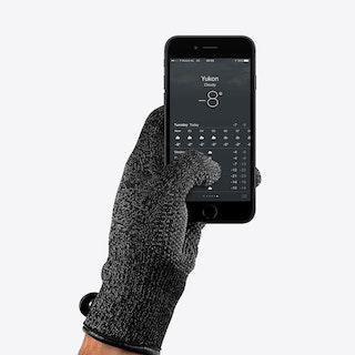 Double Layered Leather Touchscreen Gloves