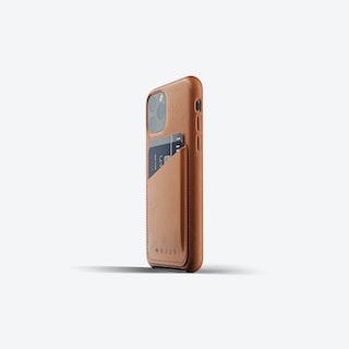 Full Leather Wallet Case for iPhone 11 Pro - Tan