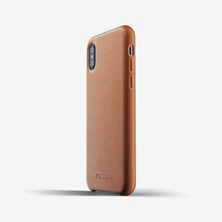 Full Leather Case for iPhone Xs - Tan
