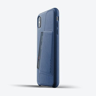 Full Leather Wallet Case for iPhone Xs Max - Blue