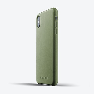 Full Leather Case for iPhone Xs Max - Olive