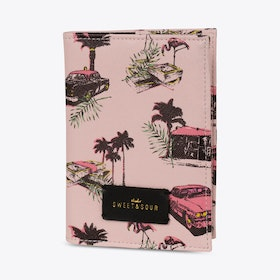 Pink Cadillac Passport Holder