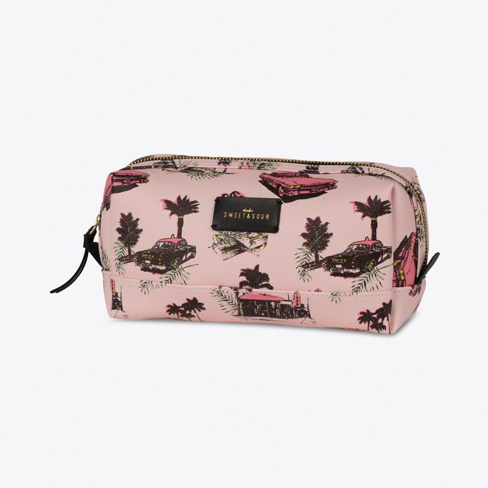 Pink Cadillac Make-up Bag Square