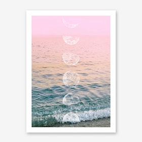Moontime Beach Art Print