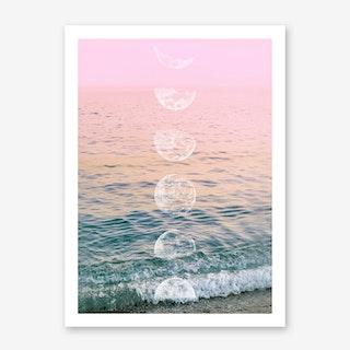 Moontime Beach Art Print