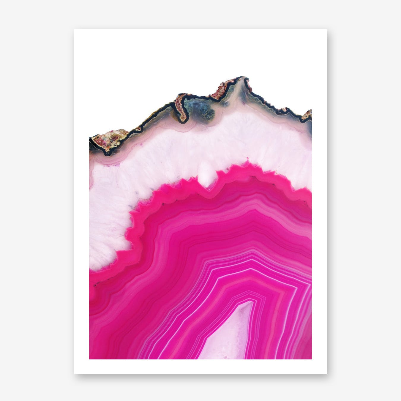 Pink Agate Slice Print