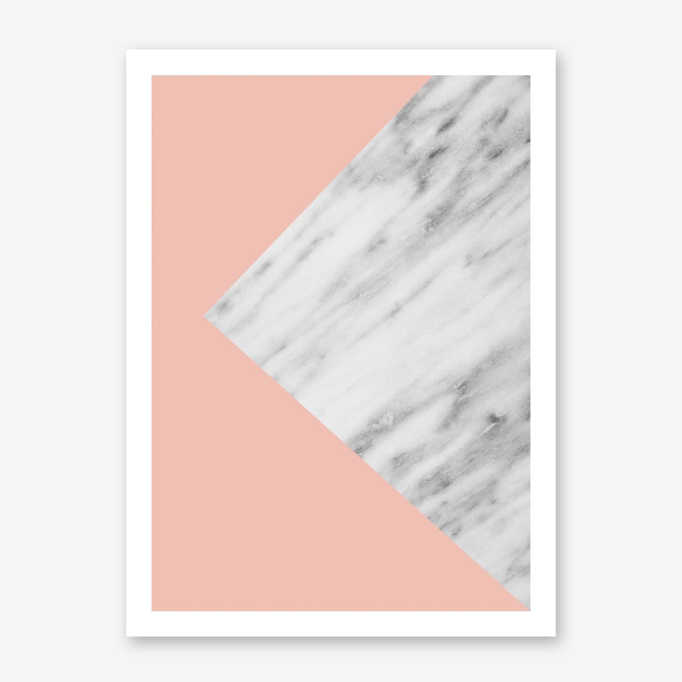 Pink Marble Collage Print