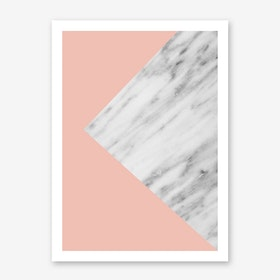 Pink Marble Collage Art Print
