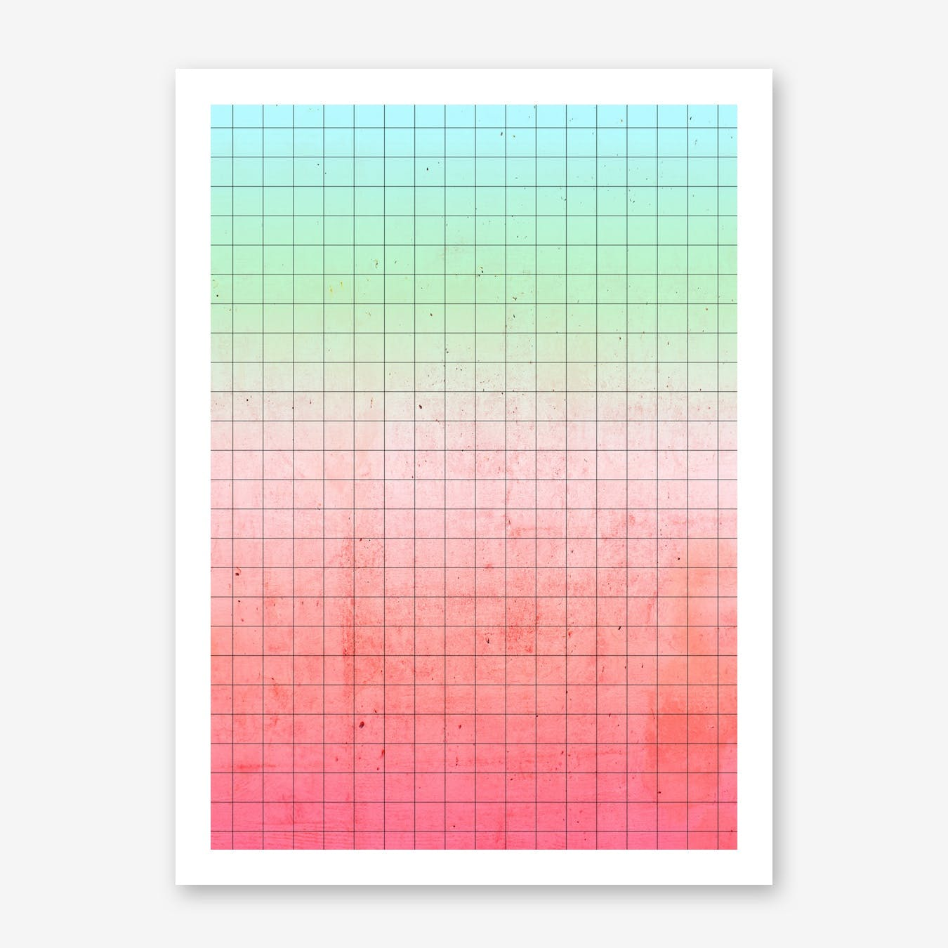Watermelon Geometry Print