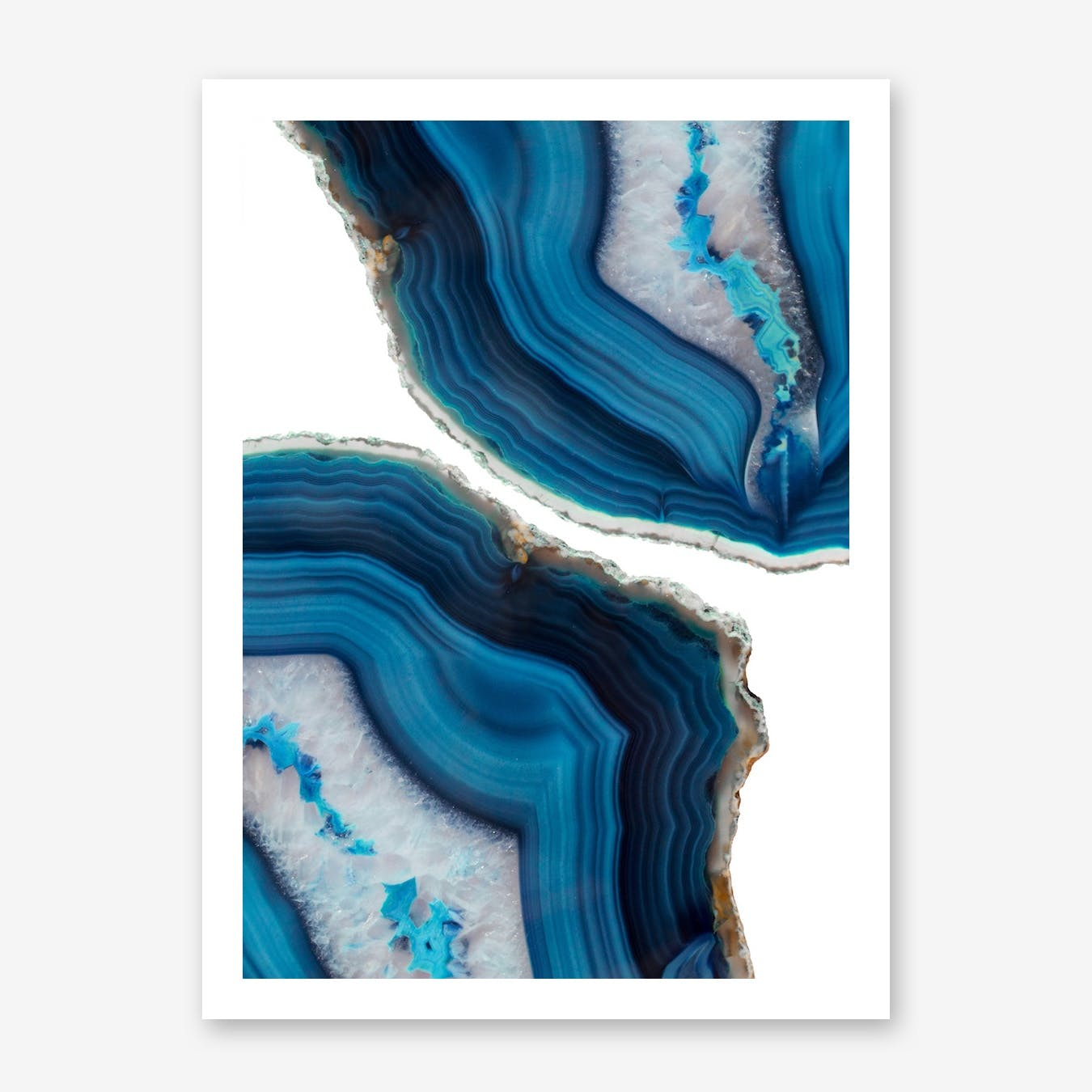 Blue Agate Print