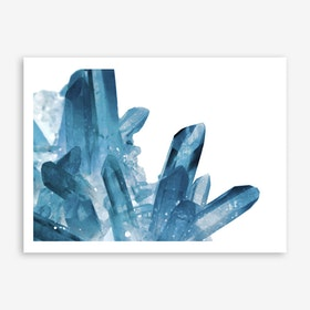 Magic Blue Crystals Art Print