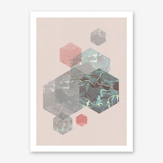 Exagonal Love Art Print