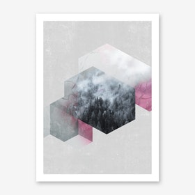 Exagonal Winter Art Print