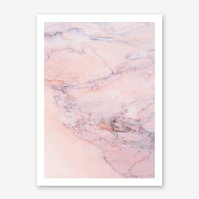 Blush Marble Art Print