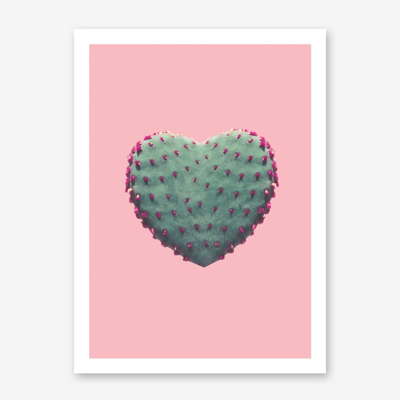Cacts Heart Print