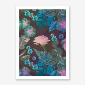 Exotic Gloomy Garden Art Print