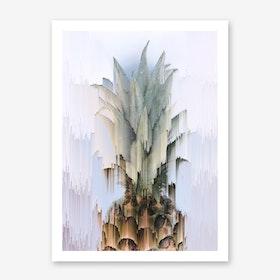Glitched Pineapple Print