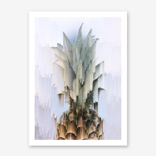 Glitched Pineapple Art Print
