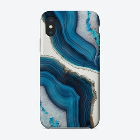 Blue Agate iPhone Case