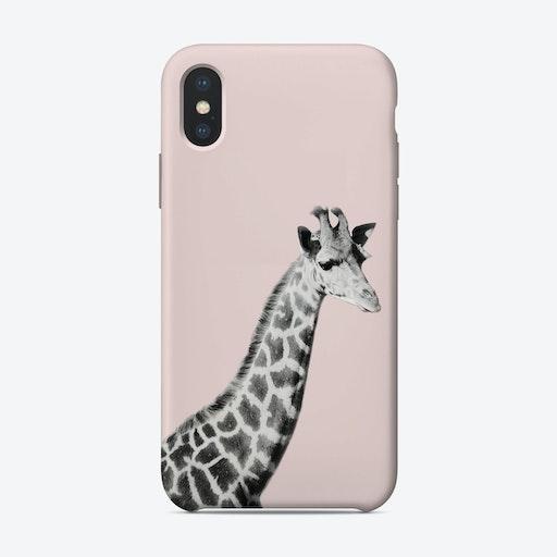 Giraffe On Pink iPhone Case
