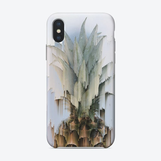 Glitched Pineapple iPhone Case