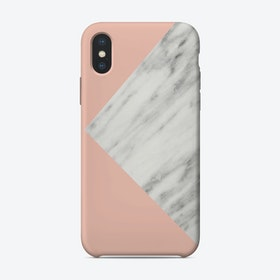 Pink Marble Collage iPhone Case