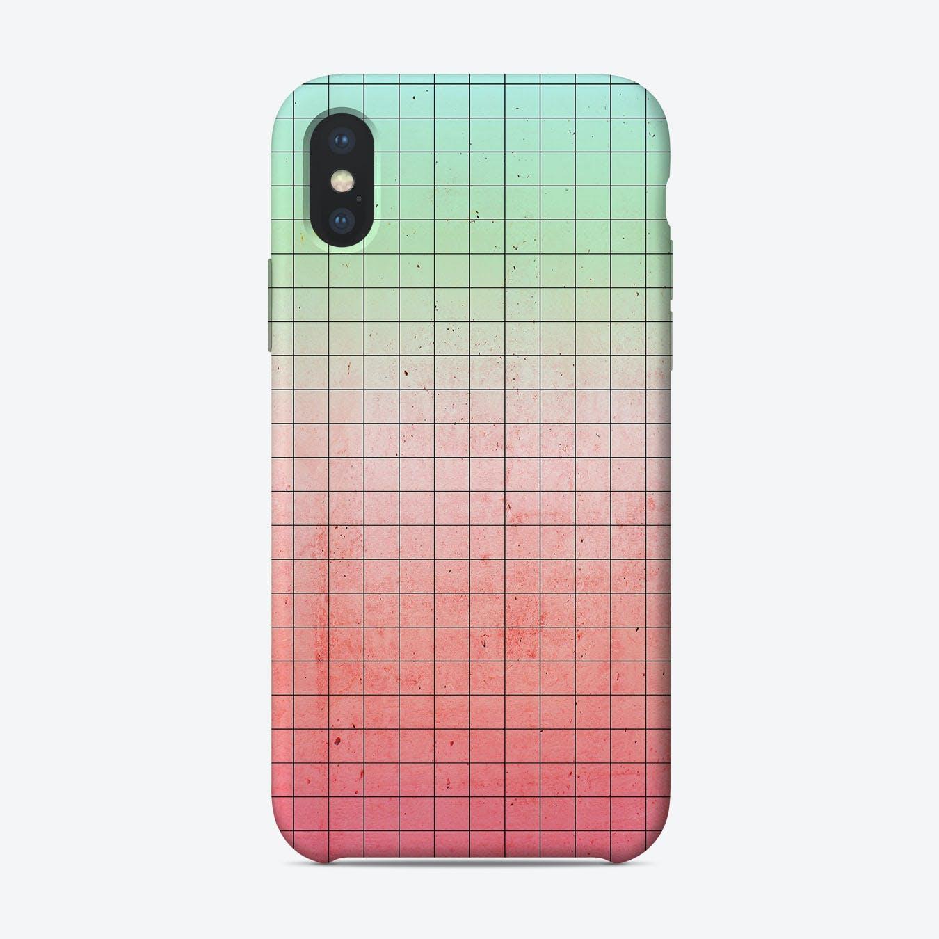 Watermelon Geometry iPhone Case