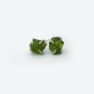 Rock Earrings - Peridot