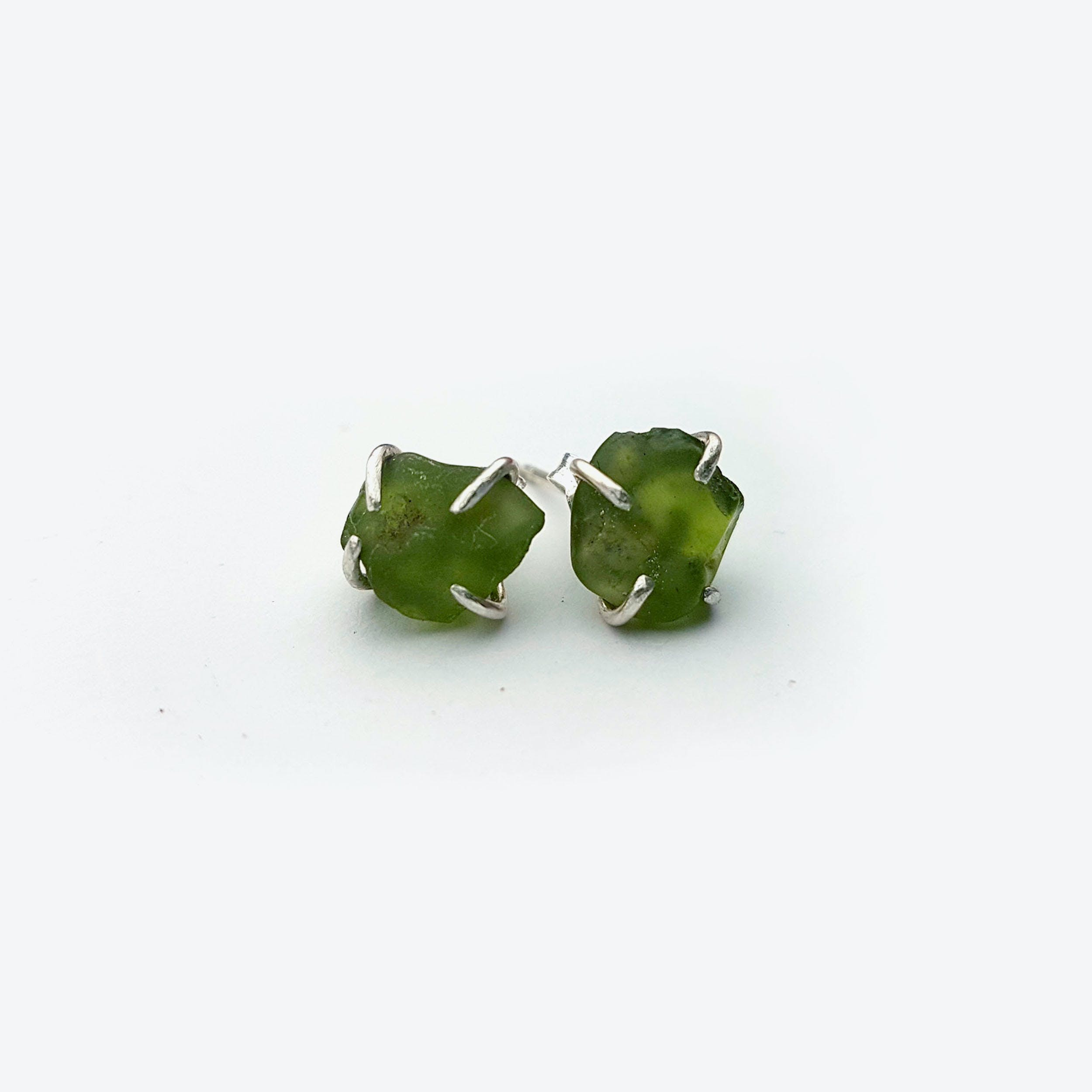 Rock Earrings - Peridot