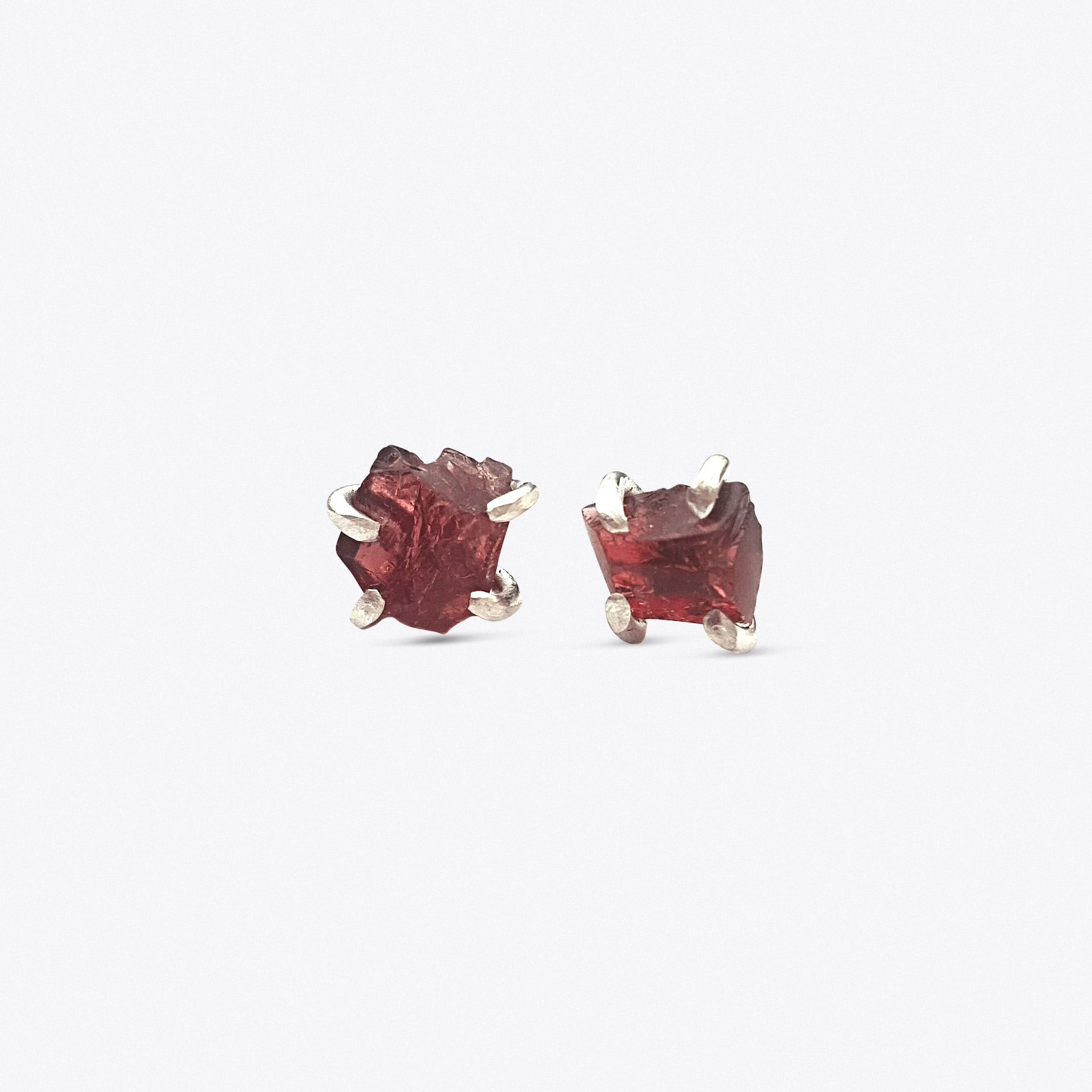Rock Earrings - Garnet