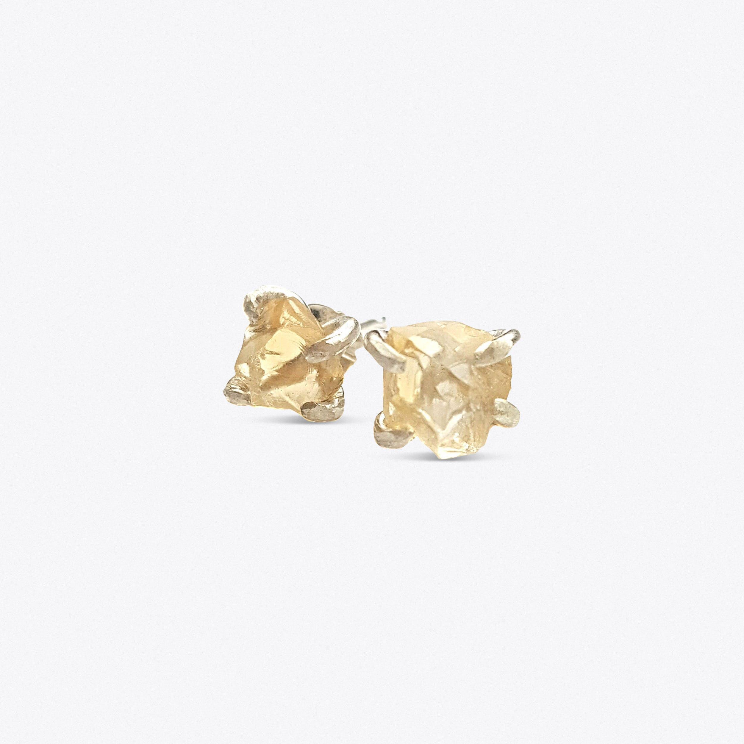 Rock Earrings - Citrine