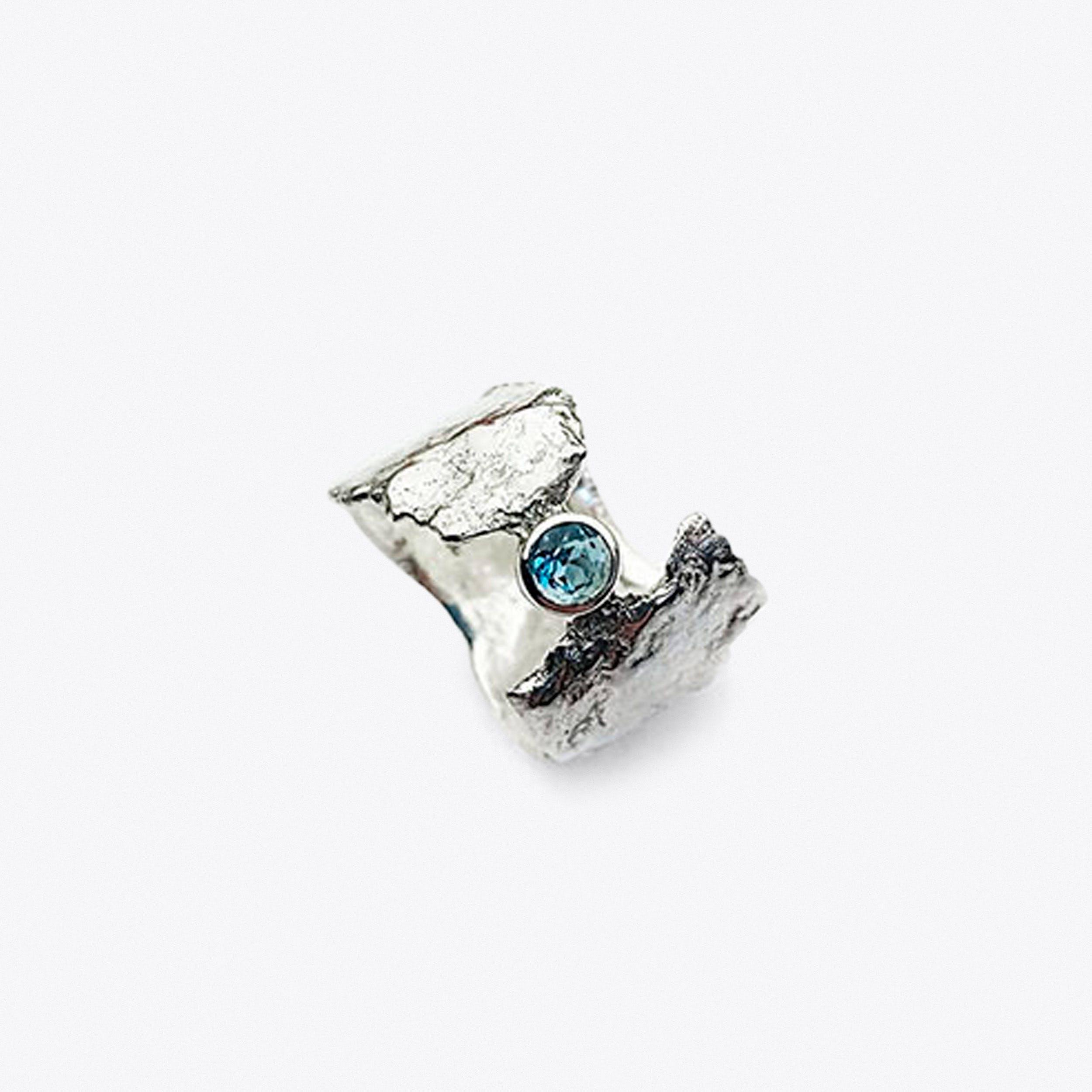 Blue Topaz Faerie Tale Ring - Goddess Danu