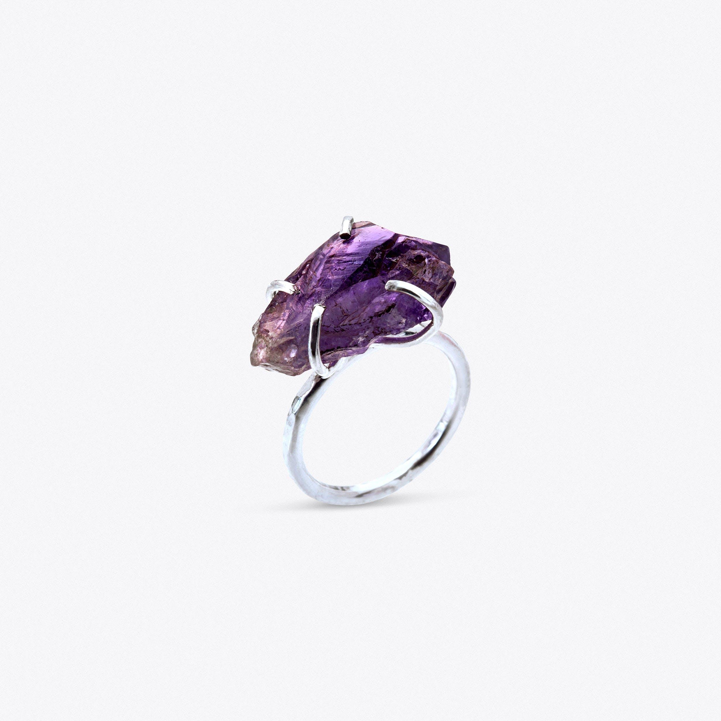 Rock Ring - Amethyst