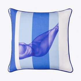Nude Cushion In Blue