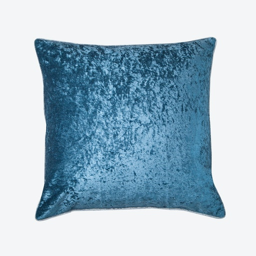 Persian Blue Velvet Cushion