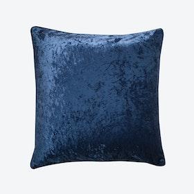 Sapphire & Light Blue Velvet Cushion
