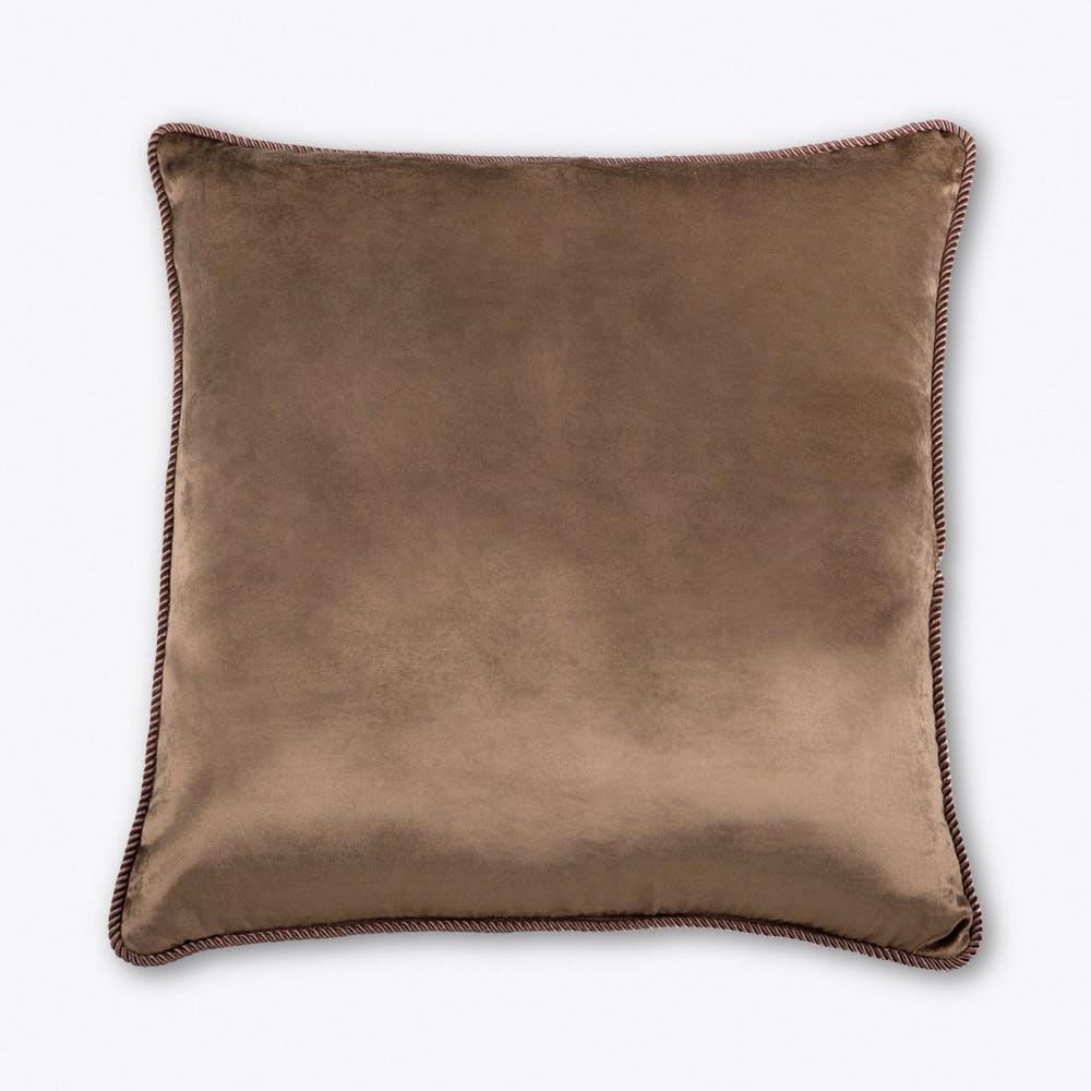 Fawn Brown Velvet Cushion
