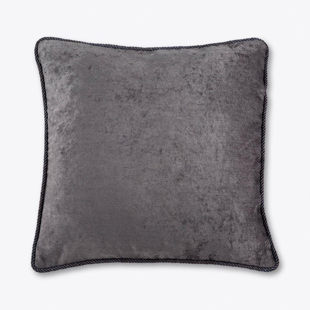 Ash Grey Velvet Cushion