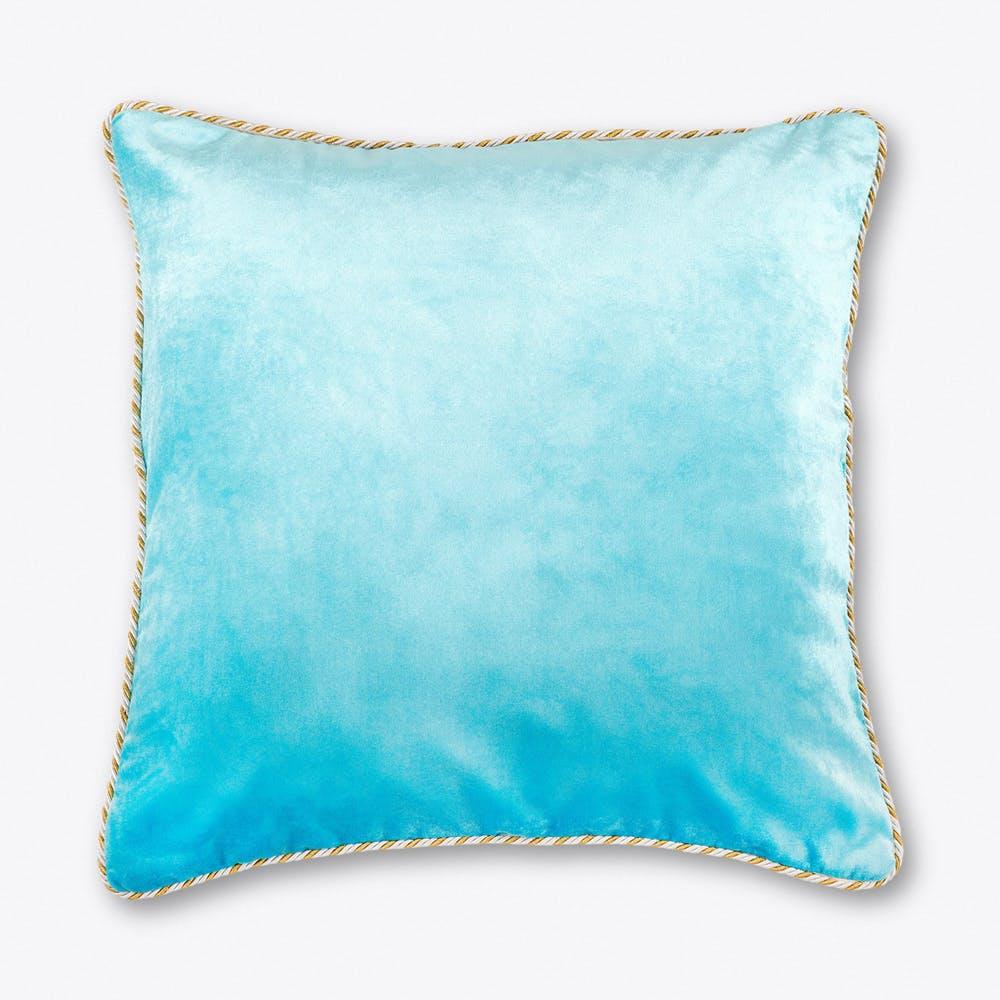 Pale Blue Velvet Cushion Large