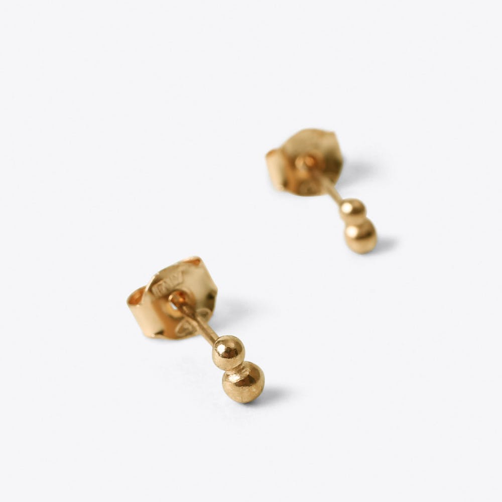 Pollen Stud Earrings in Gold