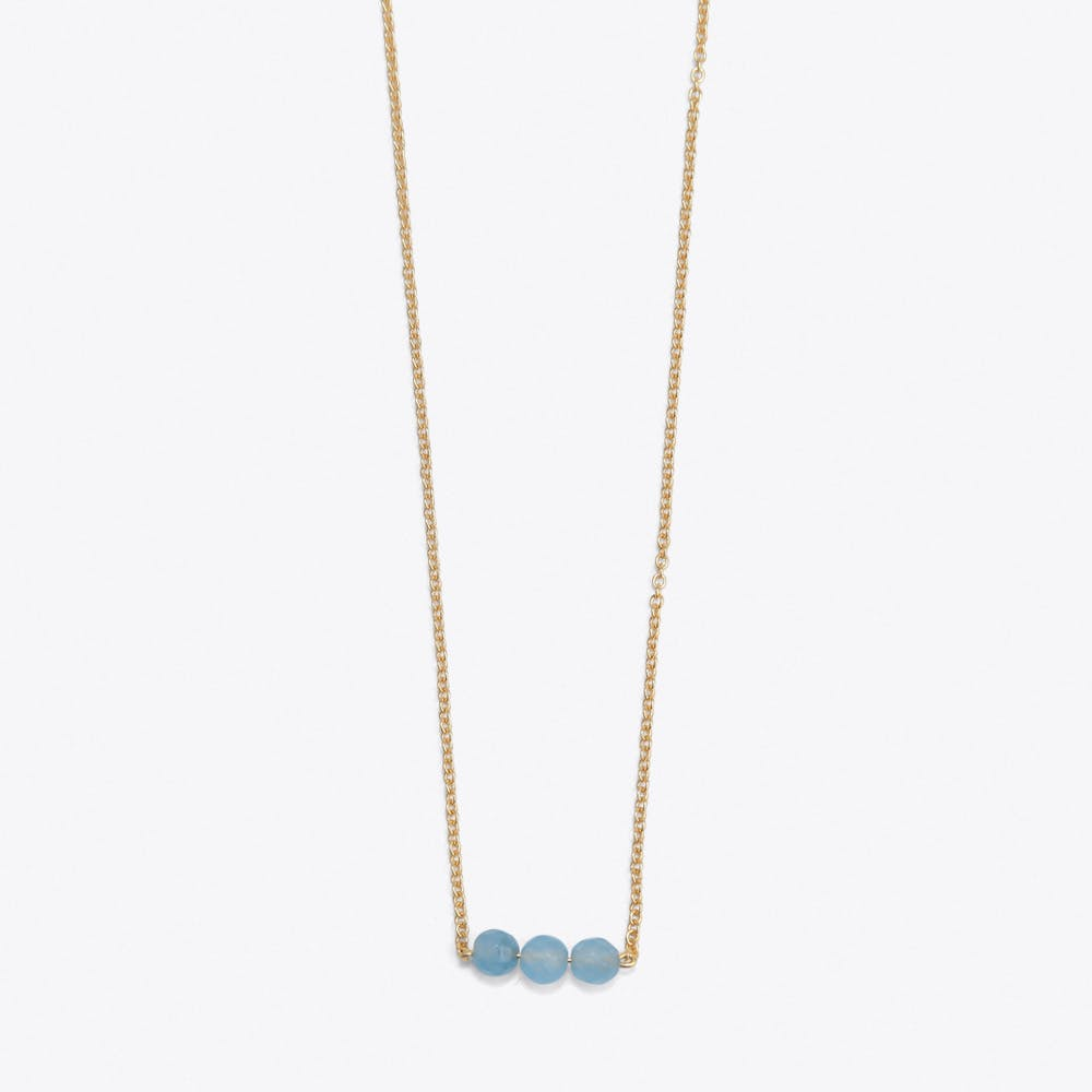 3 Friends On A String Necklace in Blue