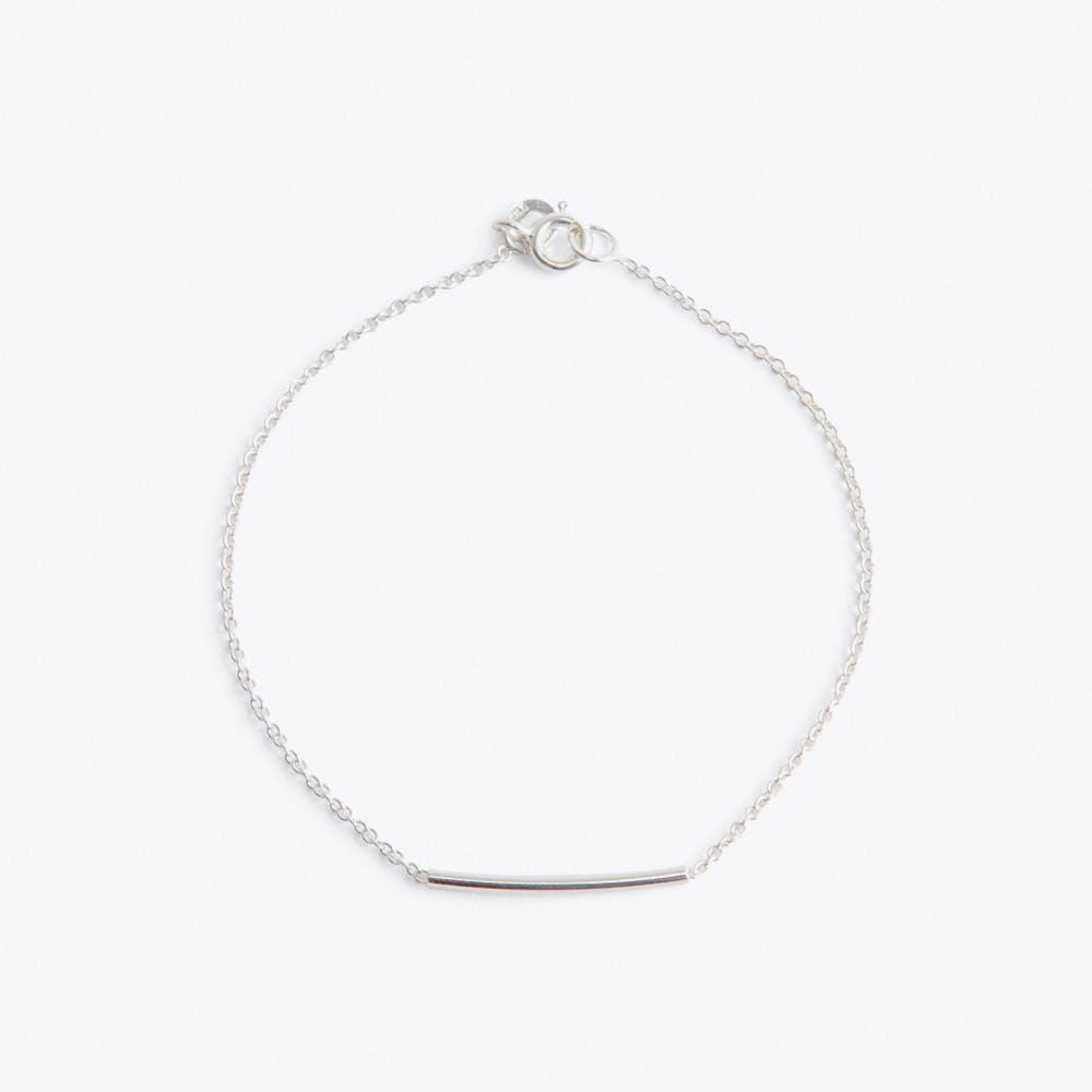 Pipe Bracelet in Silver