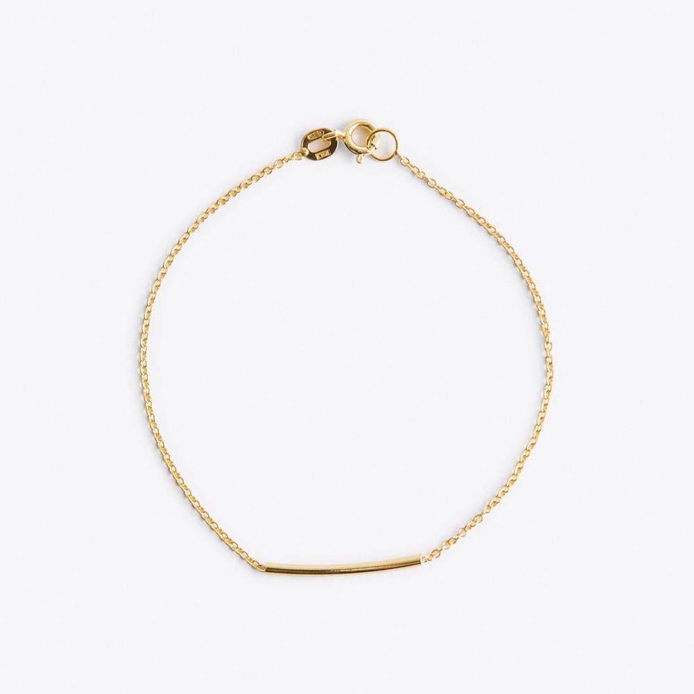 Pipe Bracelet in Gold