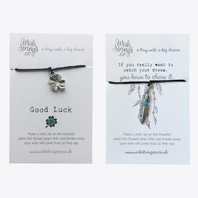 Good Luck & Catch Your Dream Duo Friendship Bracelets